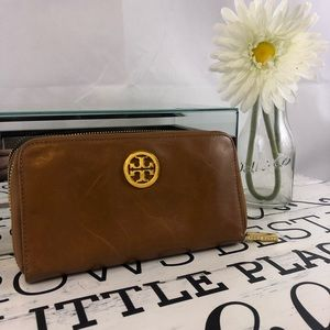 Tan Leather Tory Burch Wallet
